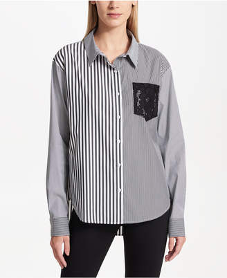 DKNY Colorblocked Oxford Shirt