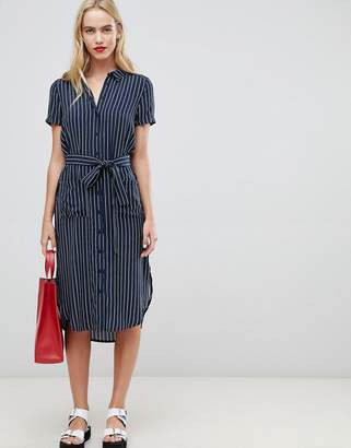 Whistles Midi Shirt Dress in Stripe