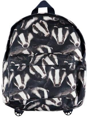 Molo Kids' Badger-Print Backpack