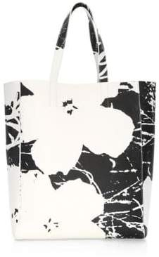 Calvin Klein Andy Warhol Flowers Soft Leather Tote