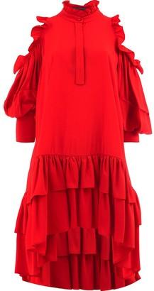 Alexander McQueen cut-out shoulder dress