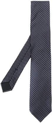 HUGO BOSS geometric embroidered tie