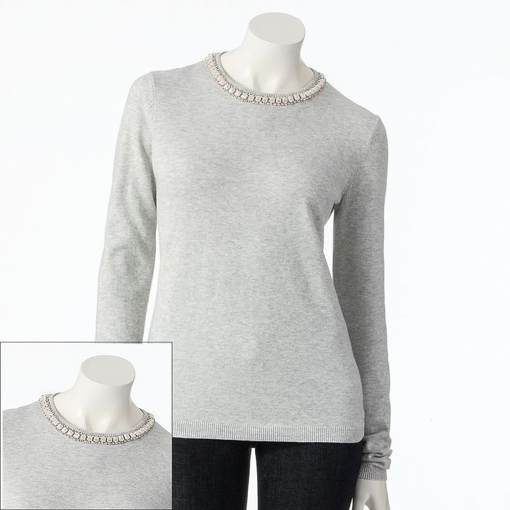 Elle TM embellished sweater - women's