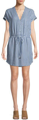 Paige Haidee V-Neck Striped Dress