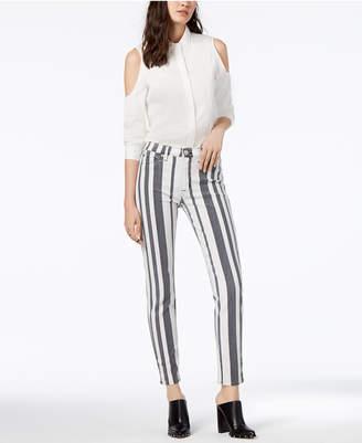 Hudson Striped Skinny Jeans