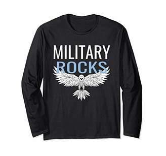 Military Rocks US Eagle Patriotic Long Sleeve Shirt