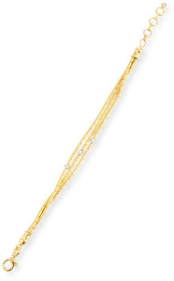 Gurhan Vertigo Triple-Strand Gold Pave Diamond Bracelet