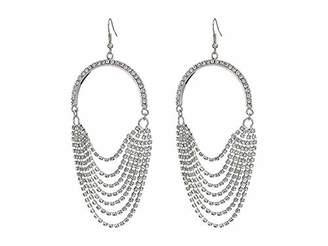 GUESS Women's Rhinestone Chain Earrings