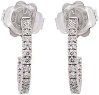 Chimento 18k White Gold Inside/Outside Diamond Hoop Earrings