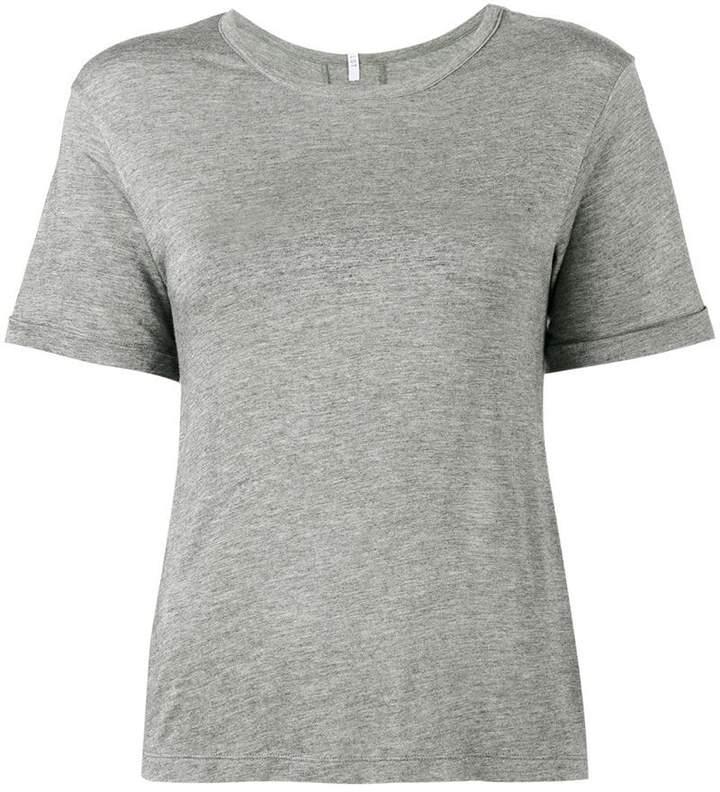 Lot 78 Lot78 Grey Cashmere Blend Side Split T shirt