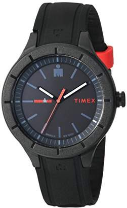 Timex TW5M16800 Ironman Essential Urban Analog 42mm Black/Red Silicone Strap Watch