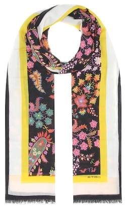 Etro Floral-printed cashmere scarf