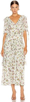 Marissa Webb Deandra Tea Length Dress in Ephrata White   FWRD