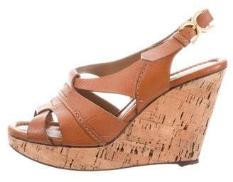Chloé Leather Cork Wedges