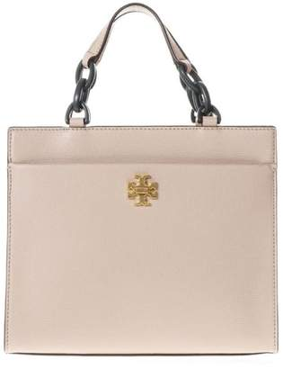 Kira Small Tote Bag in Perfect Sand and Green Danubio Soft Leather Tory Burch 3TfnR8rY