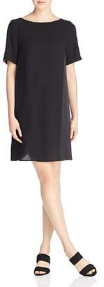 Eileen Fisher Silk Short Sleeve Shift Dress