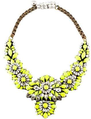 Shourouk Resin & Crystal Statement Collar Necklace
