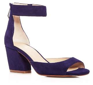 Botkier Women's Pilar Suede Ankle Strap Block Heel Sandals