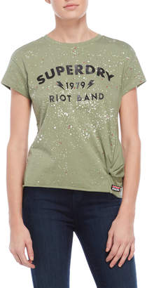 Superdry Splatter Print Knotted Tee