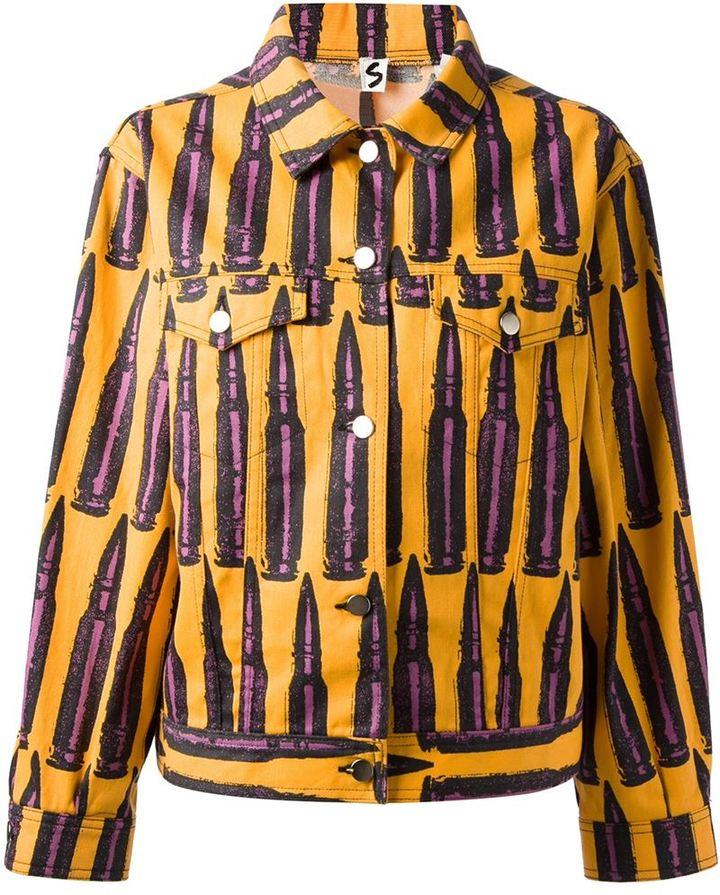 Stephen Sprouse Vintage bullet print denim jacket
