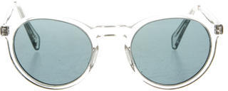 Paul Smith Clear Circular Sunglasses $95 thestylecure.com