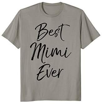 Mens Best Mimi Ever Shirt Fun Cute Greatest Grandma Black Tee Large