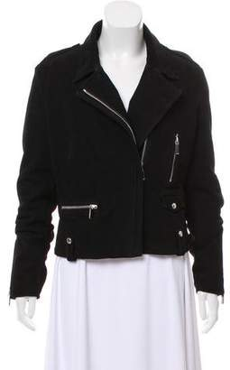 Barbara Bui Asymmetrical Suede Jacket
