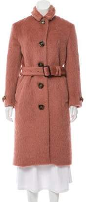 Burberry Belted Wool Blend Coat