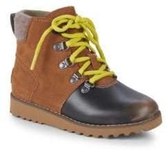 UGG Little Boy's Hilmar Waterproof Leather & Suede Boots