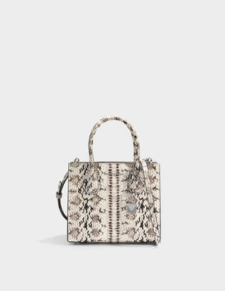 MICHAEL Michael Kors Mercer Medium Messenger Bag in Natural Marked Embossed Snake