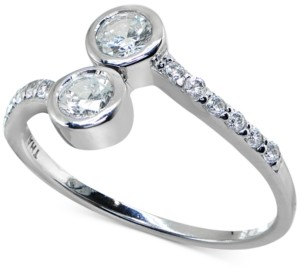 Giani Bernini Cubic Zirconia Bezel Bypass Ring in Sterling Silver, Created for Macy's