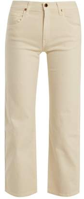 KHAITE Wendall Cropped Wide Leg Jeans - Womens - Ivory