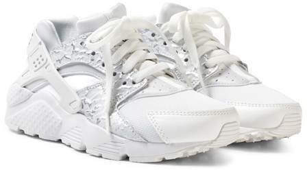NIKE White Girls ́ Huarache Run SE Junior Shoe