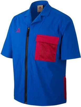 Nike ACG Short Sleeve Zip-Up Stretch Nylon Shirt