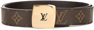 Louis Vuitton Pre-Owned logo cut-out buckle monogram belt