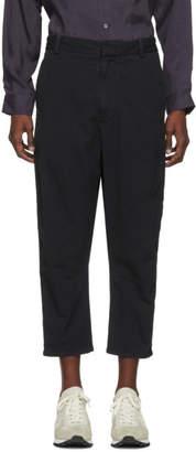 Robert Geller Black Bertrand Paper Cotton Trousers