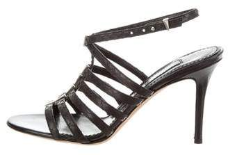 Prabal Gurung Multistrap Leather Sandals