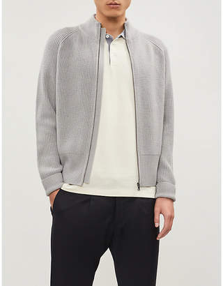 Brunello Cucinelli Two-tone cotton-piqué polo shirt