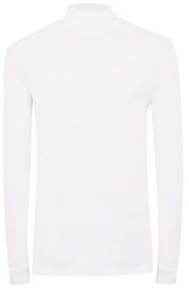 Topman Mens White Roll Neck T-Shirt