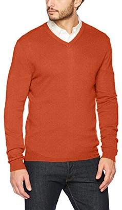 Benetton Men's V Neck Sweater Longsleeve Sweatshirt