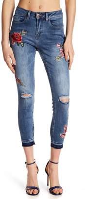 Nanette Lepore NANETTE Embroidered Floral Jeans