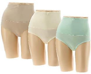 Carol Wior Set of Three Belly Band Panties