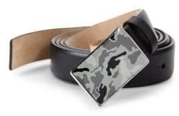 Valentino Leather Plaque Belt