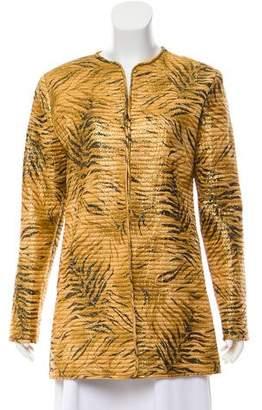 Richilene Vintage Metallic Quilted Jacket