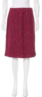 Couture St. John Tweed Knee-Length Skirt