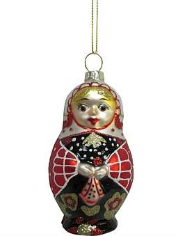 Christmas Shop Orn-Russian Doll Multi
