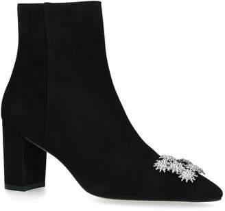 Stuart Weitzman Velvet Kera Ankle Boots 75