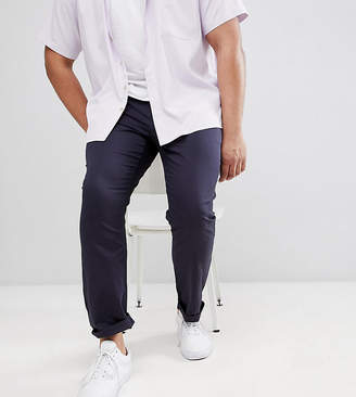 Asos PLUS Slim Chinos In Navy
