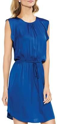 Vince Camuto Flutter-Sleeve Drawstring Dress