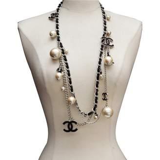 Chanel Vintage CC Black Metal Necklace